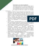 Organización de Las Ciencias Químicas, Físicas, Biológicas