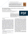 How formal performance evaluation affects trust between superior and subordinate managers