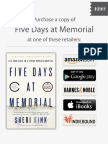 Five Days at Memorial Excerpt