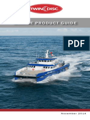 Twin Disc Marine Product Guide | Horsepower | Propeller