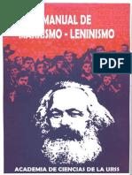 Academia Ciencias de La URSS - Manual Marxismo-leninismo