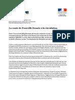 Communiqué Fermeture Route de Pourville