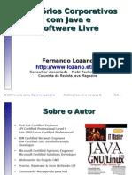 Relatórios Corporativos com Java e Software Livre