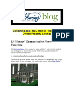 11 - 13 Houses Guaranteed to Never Foreclose