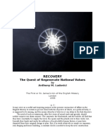 Recovery - The Quest of Regenerate National Values