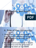 Community and Health Notes