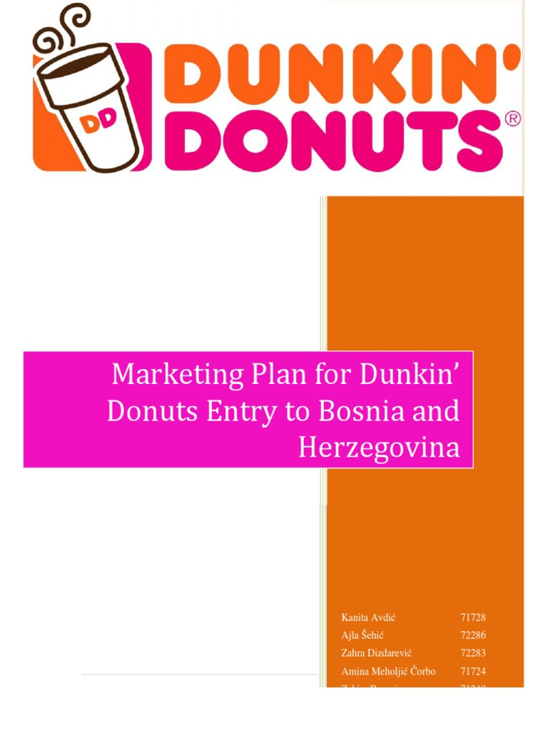 dunkin donuts marketing strategy