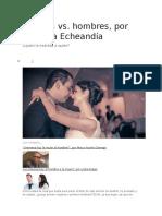 Rossana echeandia - Mujeres vs Hombres