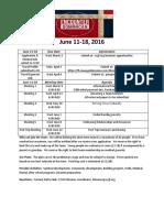 Encounter Dominican Meeting Schedule for June 11-18 2016-2