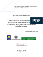 Distribution of mortality rates and the correlationship between geographical distribution