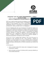 Pregunta Reglament Participació, Desembre 2015