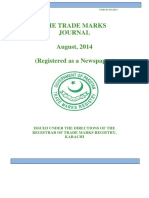 THE TRADE MARKS JOURNAL (No.763 AUGUST 1, 2014)