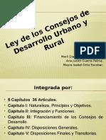 ExpOsiciÓn SObre La Ley de LOs COnsejOs de DesarrOllO UrbanO y Rural!!!