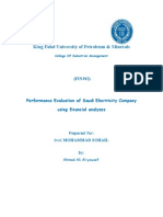 Finance Report Performance Evaluation