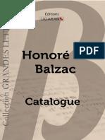 Catalogue Ligaran livres Balzac grands caractères