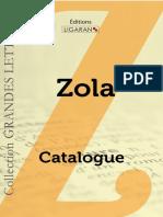 Catalogue Ligaran livres Emile Zola grands caractères