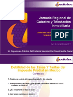 INDETEC - Debilidad de Las Tasas y Tarifas Predial en MX 2011