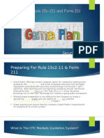 Preparing for Rule 15c2-11 & Form 211