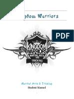 Kingdom Warriors Martial Arts & Tricking Student Manual