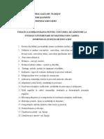 Tematica Si Bibliografie Admitere Masterat - Stiintele Educatiei - 2015