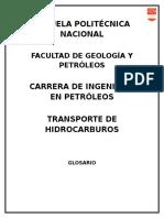 TRANSPORTE HIDROCR - GLOSARIO