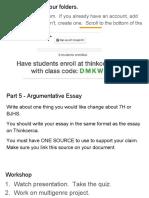 feb  4 argument mini lesson   workshop