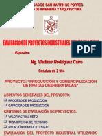 Evaluación de Proyectos Industriales Utilizando Excel (Exposición Convención)