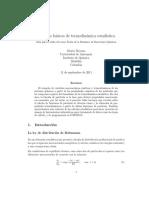 Cálculos Básicos de Mecánica Estadídtica