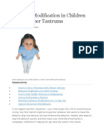 Behavior Modification in Children With Temper Tantrums