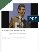 Art Van Damme Quintet - After You'Ve Gone - 1949
