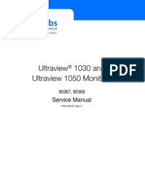 Spacelabs Ultraview 1030 Monitor - Service Manual | Battery