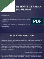 2.- Generalidades Sistemas de Riego Presurizado