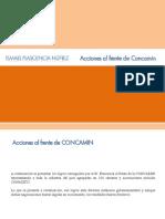 Ismael Plascencia Nuñez - Acciones al frente de CONCAMIN