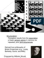 Theories in Visual perceptions
