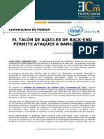 NP Intel Security - El Talón de Aquiles de back-end permite ataques a banca móvil