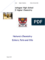 Esters Fats and Oils Pupil Notes