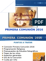Presentación General Comunión 2016