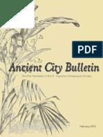 Ancient City Bulletin - February 2016