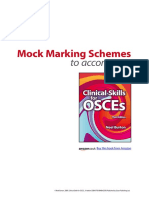Osces Mock Marking Scheme