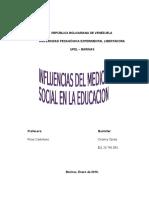 Influencias Del Medio Social en La Educacion