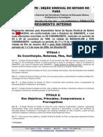 Regimento Interno Seção Sindical do Estado do Pará - NOVA VERSÃO