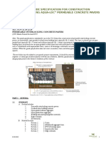 Aqua-Loc Permeable Specification 05 03 12