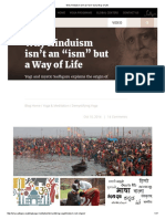 Why Hinduism Isn't an _ism_ but a Way of Life