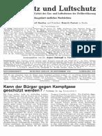 Gasschutz Und Luftschutz 1931 Nr.2 September 1931