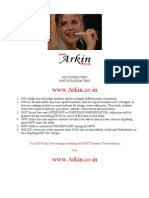 ARKIN - NID Sutdio Test , NIFT Situation Test 2012