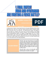 IPL FINAL MATCH! - Fierce Fighting by Mumbai and Hyderabad - VRK100-12042010