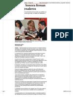 23-01-16 Industriales de Sonora firman acuerdo con jornaleros. Grupo Milenio