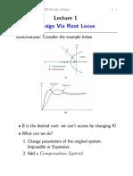 Design via Root Locus