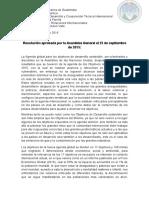 Resolución Aprobada Por La Asamblea General El 25 de Septiembre de 2015