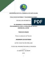 El Desarrollo de Estándares y Procedimientos Para La Creación de Un Data Center en La Upse (1)